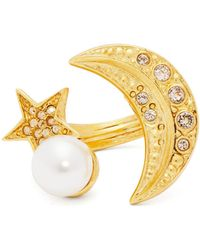 Oscar de la Renta - Moon And Star Crystal-embellished Ring - Lyst