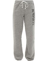 Rodarte Radarte-print Fleeceback-jersey Track Trousers - Grey
