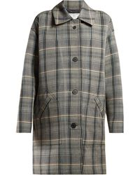 Stella McCartney - Oversized Checked Wool Blend Coat - Lyst