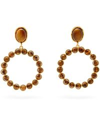Sylvia Toledano Happy Tiger's Eye Clip Earrings - Metallic
