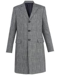 Acne Studios - Mavin Prince Of Wales-checked Linen-blend Coat - Lyst