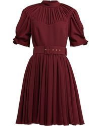 Emilia Wickstead Corinne Pleated Crepe Mini Dress - Red