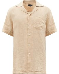 Frescobol Carioca Cuban-collar Linen Shirt - Natural