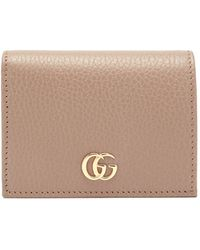 Gucci GG Marmont Grained-leather Wallet - Natural