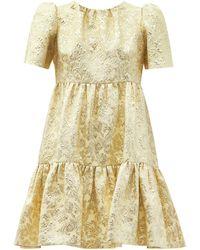Dolce & Gabbana フローラルブロケード ティアードミニドレス - マルチカラー