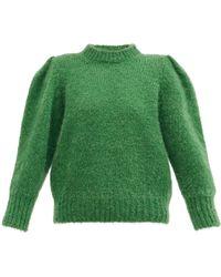 Isabel Marant Emma Puff-sleeve Jumper - Green