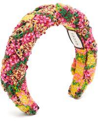 Gucci Bandeau en tweed de laine mélangée tressée - Rose