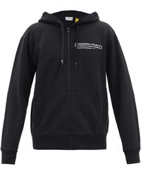 7 MONCLER FRAGMENT Thunderbolt Project Hooded Zip-up Sweatshirt - Black