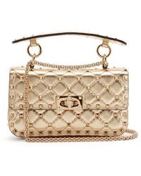Valentino - Rockstud Spike Small Quilted-leather Shoulder Bag - Lyst