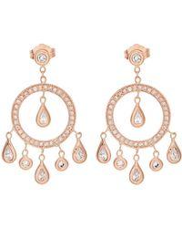 Jacquie Aiche - Diamond & Rose-gold Earrings - Lyst