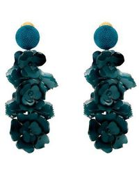 Oscar de la Renta - Flower Cluster Clip-on Earrings - Lyst