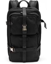 Versace グレカストラップ テクニカルバックパック - ブラック