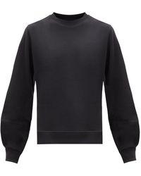 Ganni ソフトウェア リサイクルコットンブレンド スウェットシャツ - ブラック
