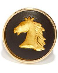 Ferian Chevalière en or 9 carats à camée Wedgwood - Métallisé