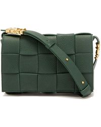 Bottega Veneta Cassette Small Intrecciato Leather Cross-body Bag - Green