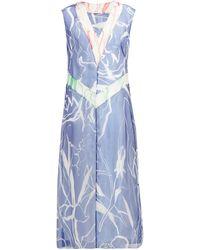 Marina Moscone - アブストラクトプリント シルクブレンド ドレス - Lyst