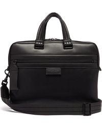 Bottega Veneta - Perforated Panel Leather Briefcase - Lyst