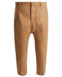 R13 - Dropped-crotch Wool-blend Cropped Trousers - Lyst