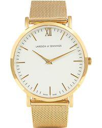 Larsson & Jennings Lugano Gold Plated Watch - Metallic