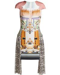 Mary Katrantzou - Pe11 Print Crepe And Chiffon Mini Dress - Lyst