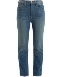 The Great The Straight A High-rise Jeans - Blue