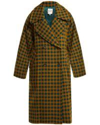 Sea - Ethno Pop Plaid Wool-blend Coat - Lyst
