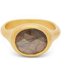 Eli Halili Brown Sapphire & 22kt Gold Ring - Metallic