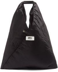 MM6 by Maison Martin Margiela ジャパニーズ パデッドナイロン トートバッグ - ブラック