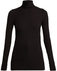 Wolford Ribbed-knit High-neck Top - Black