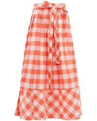 Thierry Colson Java Gingham Midi Skirt - Multicolor