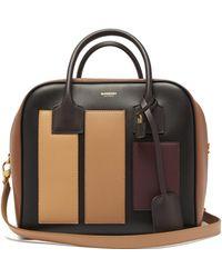 Burberry - Cube Appliqué Leather Bowling Bag - Lyst
