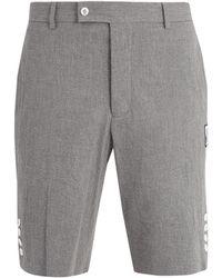 Moncler Gamme Bleu - Slim-leg Cotton-seersucker Shorts - Lyst