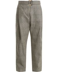 Ellery - Kool Aid High-rise Checked Wool Trousers - Lyst