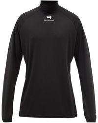 Balenciaga ロングスリーブ テクニカルパフォーマンスtシャツ - ブラック