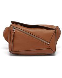 Loewe Puzzle Leather Belt Bag - Multicolor