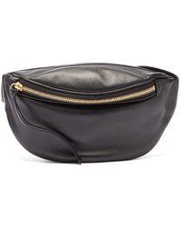 Jil Sander Moon Logo-debossed Leather Belt Bag - Black