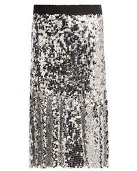 Dolce & Gabbana - Paillette-embellished Midi Skirt - Lyst