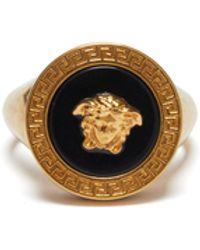 Versace - Medusa-logo Signet Ring - Lyst