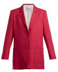 Racil - - Alfred Single Breasted Wool Blazer - Womens - Pink - Lyst