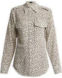 JOSEPH - Rainer Printed Silk Shirt - Lyst