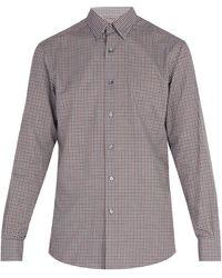 Ermenegildo Zegna - Micro Gingham Cotton Shirt - Lyst