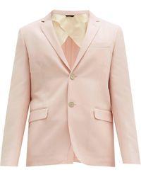 Fendi ウールブレンドキャバルリーツイル スーツジャケット - ピンク