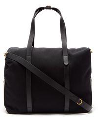 Mismo Leather-trim Canvas Holdall - Black
