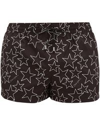 Dolce & Gabbana Star-print Swim Shorts - Black