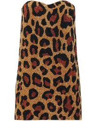 Ashish Robe courte bustier à sequins et motif léopard - Multicolore