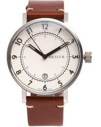 Bravur - Bw001 Stainless-steel And Leather Watch - Lyst