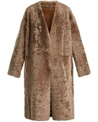 Vince - Reversible Shearling Coat - Lyst
