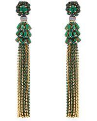 Etro - Crystal Embellished Tassel Earrings - Lyst