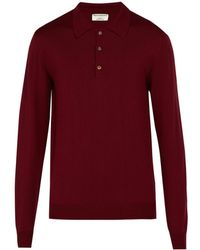 Éditions MR Maxime Wool Polo Shirt - Red