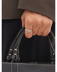 Fernando Jorge Cushion Diamond & 18kt Beige-gold Ring - Metallic